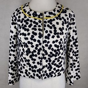 AGB Blazer Dots Size 20 Yellow Piping at Neckline